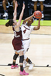 DALLAS, TX - APRIL 2: Doniyah Cliney #4 of the South Carolina Gamecocks drives past Dominique Dillingham #00 of the Mississippi State Lady Bulldogs during the 2017 Women's Final Four at American Airlines Center on April 2, 2017 in Dallas, Texas. (Photo by Timothy Nwachukwu/NCAA Photos via Getty Images)
