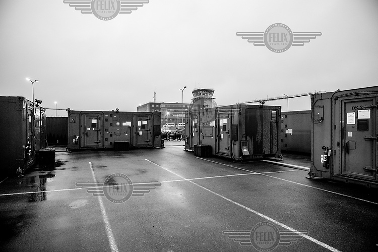 Communication stations housed within containers during DARS exercises.
