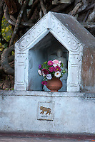 Myanmar, Burma.  Buddhist Shrine at Thein Taung Paya monastery, Kalaw, Shan State.