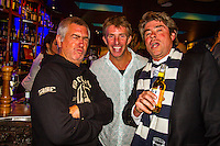 Torquay, Victoria/Australia (Monday, April 9, 2012) Phil Jarratt (AUS), with Neil Ridgway (AUS). The 500th Issue Tracks party at Growlers Restaurant in Torquay attended by past editors Phil Jarratt (AUS), Gary Dunne (AUS),Neil Ridgway (AUS), current editor Luke Kennedy (AUS) surfers and friends of the magazine.Photo: joliphotos.com