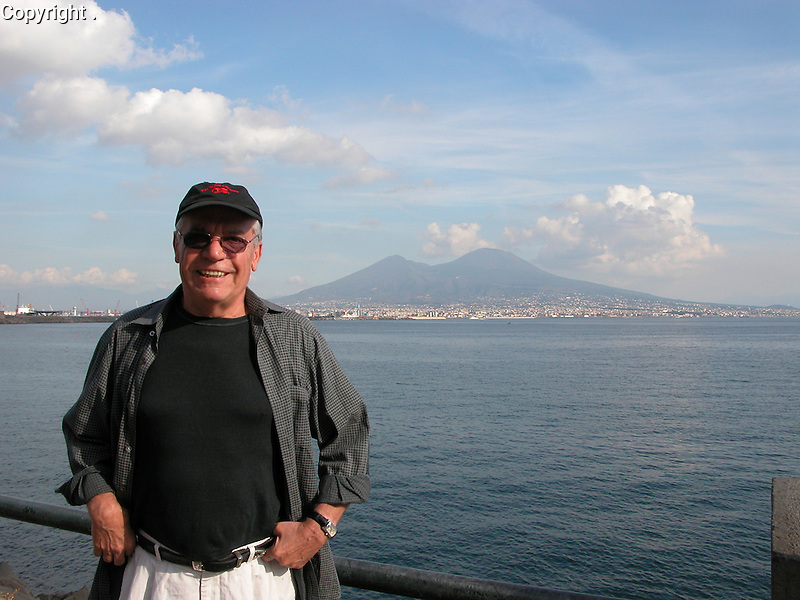 Guy visits Mt. Vesuvius, near Naples, Italy.