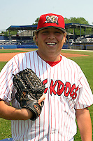 July 11, 2005:  Pitcher Michael Zagurski of the Batavia Muckdogs during a game at Dwyer Stadium in Batavia, NY.  The Muckdogs are the Short Season Class-A affiliate of the Philadelphia Phillies.  Photo By Mike Janes/Four Seam Images