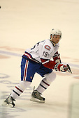 March 15, 2009:  Right Wing Mike Glumac (15) of the Hamilton Bulldgos, AHL affiliate of Montreal Canadians, during the second period of a regular season game at the Blue Cross Arena in Rochester, NY.  Hamilton defeated Rochester 4-3 in a shoot out.  Photo Copyright Mike Janes Photography 2009