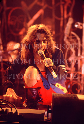 """Alice Cooper sings """"Eighteen"""" at the Brown County Arena in Green Bay Wisconsin. This was part of the Welcome To My Nightmare tour. Taken 3/25/1975"""