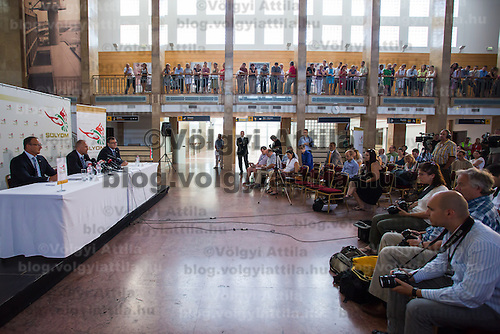 Press conference of Solyom Airways in Budapest, Hungary on July 24, 2013. ATTILA VOLGYI