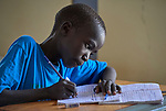 A boy in class in the Loreto Primary School in Rumbek, South Sudan. While focused on educating girls from throughout the war-torn country, the school, run by the Institute for the Blessed Virgin Mary--the Loreto Sisters--of Ireland, also educates children from nearby communities.