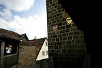 A tourist takes a picture of the tower of Galgentor in Rothenburg ob der tauber, Germany, August 02, 2008. (ALTERPHOTOS/Alvaro Hernandez)