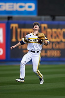 Michigan Wolverines left fielder Matt Ramsay (46) calls for a fly ball during the first game of a doubleheader against the Canisius College Golden Griffins on June 20, 2016 at Tradition Field in St. Lucie, Florida.  Michigan defeated Canisius 6-2.  (Mike Janes/Four Seam Images)