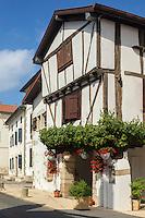 France, Aquitaine, Pyrénées-Atlantiques, Pays Basque, Bidache: Maison Haramboure, XVII éme   //  France, Pyrenees Atlantiques, Basque Country, Bidache: Maison Haramboure, XVII century