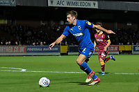 Ben Purrington of AFC Wimbledon in action during AFC Wimbledon vs Bradford City, Sky Bet EFL League 1 Football at the Cherry Red Records Stadium on 2nd October 2018