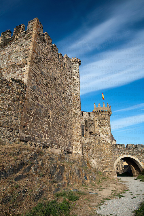 Templar castle, town of Ponferrada, El Bierzo region, province of Leon, autonomous community of Castilla and Leon, northern Spain