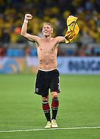 FUSSBALL WM 2014                HALBFINALE Brasilien 1-7 Deutschland          08.07.2014 JUBEL; Bastian Schweinsteiger (Deutschland) nach dem Abpfiff