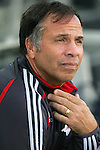 28 March 2007: New York head coach Bruce Arena. Toronto FC defeated the New York Red Bulls 2-1 at Blackbaud Stadium in Cary, North Carolina in the 2007 Carolina Challenge Cup.