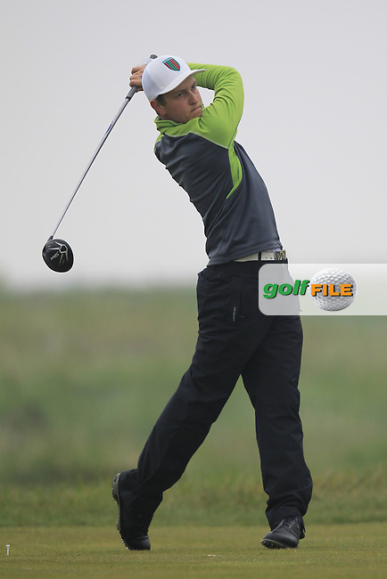 Nicolas Schellong (CZE) on the 11th tee during Round 3 of the Flogas Irish Amateur Open Championship at Royal Dublin on Saturday 7th May 2016.<br /> Picture:  Thos Caffrey / www.golffile.ie