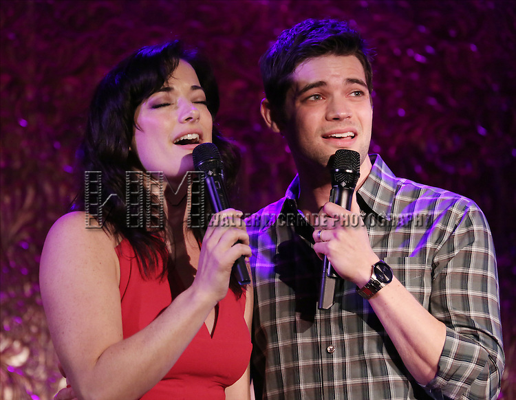 Laura Michelle Kelly and Jeremy Jordan perform in 'Breaking Character' at 54 Below on November 12, 2014 in New York City.