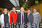 Kerry Footballers Darren O'Sullivan, Brendan Kealey, Colm Cooper, Kieran O'Leary and Niall O'Mahony at the homecoming for Tidy Towns in Killarney on Monday