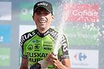 Oscar Rodriguez Garaicoechea (ESP) Euskadi-Murias wins Stage 13 of the La Vuelta 2018, running 174.8km from Candas, Carreno to Valle de Sabero, La Camperona, Spain. 7th September 2018.<br /> Picture: Unipublic/Photogomezsport | Cyclefile<br /> <br /> <br /> All photos usage must carry mandatory copyright credit (&copy; Cyclefile | Unipublic/Photogomezsport)