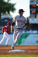 Aberdeen Ironbirds right fielder Mike Odenwaelder (41) running the bases during a game against the Batavia Muckdogs on July 14, 2016 at Dwyer Stadium in Batavia, New York.  Aberdeen defeated Batavia 8-2. (Mike Janes/Four Seam Images)