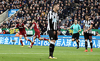 Liverpool's Philippe Coutinho celebrates scoring the opening goal <br /> <br /> Photographer Rich Linley/CameraSport<br /> <br /> The Premier League -  Newcastle United v Liverpool - Sunday 1st October 2017 - St James' Park - Newcastle<br /> <br /> World Copyright &copy; 2017 CameraSport. All rights reserved. 43 Linden Ave. Countesthorpe. Leicester. England. LE8 5PG - Tel: +44 (0) 116 277 4147 - admin@camerasport.com - www.camerasport.com
