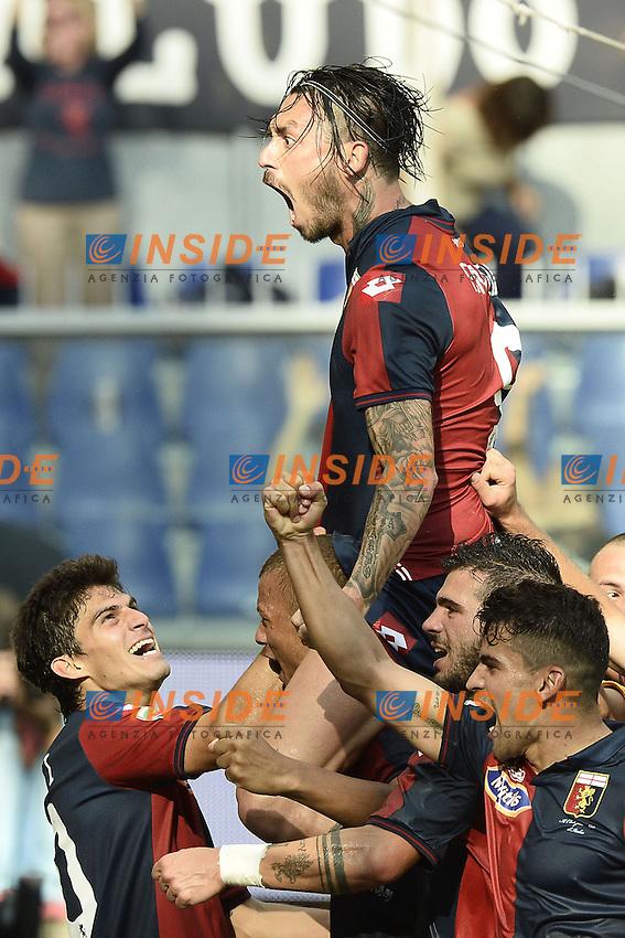 esultanza gol Mauricio Pinilla Goal celebration <br /> Genova 21-09-2014 Stadio Luigi Ferraris - Football Calcio Serie A Genoa - Lazio. Image Sport / Foto Insidefoto
