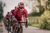 Anthony Turgis (FRA/Cofidis) leading the race<br /> <br /> 98th Brussels Cycling Classic 2018<br /> One Day Race:  Brussels &gt; Brussels (201km)