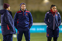 London Scottish staff ahead of the Championship Cup match between London Scottish Football Club and Ealing Trailfinders at Richmond Athletic Ground, Richmond, United Kingdom on 23 November 2018. Photo by David Horn/PRiME Media Images