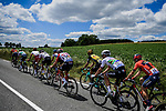 The large breakaway group in action during Stage 9 of the 2019 Tour de France running 170.5km from Saint-Etienne to Brioude, France. 14th July 2019.<br /> Picture: ASO/Pauline Ballet | Cyclefile<br /> All photos usage must carry mandatory copyright credit (© Cyclefile | ASO/Pauline Ballet)