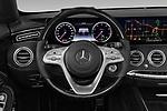 Car pictures of steering wheel view of a 2019 Mercedes Benz S-Class - 2 Door Convertible Steering Wheel