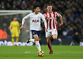 9th December 2017, Wembley Stadium, London England; EPL Premier League football, Tottenham Hotspur versus Stoke City; Dele Alli of Tottenham Hotspur on the ball