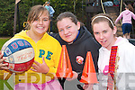 Currow kids having fun at the Currow Summer Camp last Friday. L-r Christina Moore, Maggie O'Sullivan and Susan O'Connor