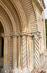 Exterior 19th century Italianate architecture of Wilton new church, Wiltshire, England, UK ornate capitals and columns main entrance built 1844