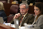 Nevada Assemblyman Glenn Trowbridge, R-Las Vegas, works in a committee hearing at the Legislative Building in Carson City, Nev., on Tuesday, Feb. 3, 2015. <br /> Photo by Cathleen Allison