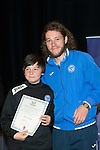 St Johnstone FC Youth Academy Presentation Night at Perth Concert Hall..21.04.14<br /> Stevie May presents to Struan Ross<br /> Picture by Graeme Hart.<br /> Copyright Perthshire Picture Agency<br /> Tel: 01738 623350  Mobile: 07990 594431