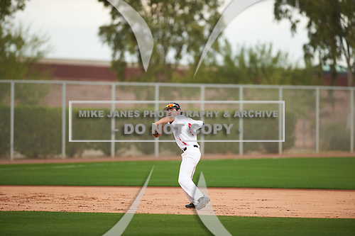 Matthew Palomino (6) of Sacred Heart Cathedral Prep High School in San Francisco, California during the Under Armour All-American Pre-Season Tournament presented by Baseball Factory on January 14, 2017 at Sloan Park in Mesa, Arizona.  (Zac Lucy/Mike Janes Photography)