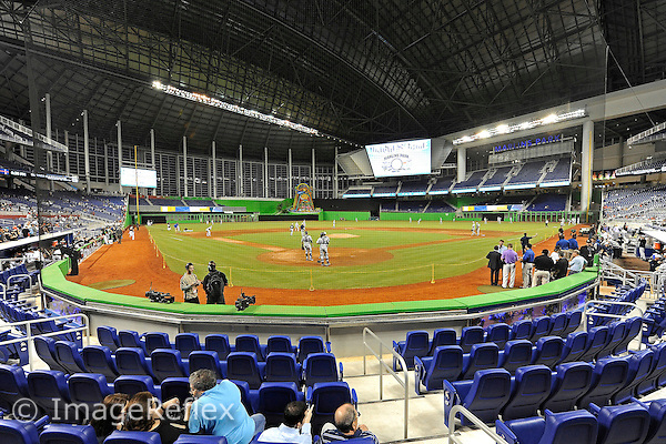 01f76edc325 7 March 2012  The interior of Marlins Park