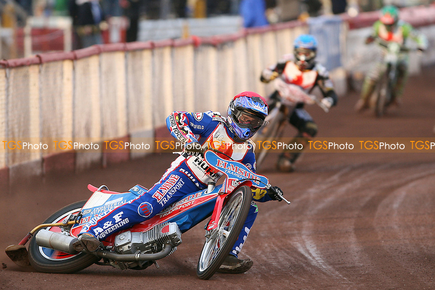 Heat 3: Oliver Allen (red), Simon Stead (blue) and Joe Screen (green) - The Paul Hurry Testimonial at The Arena Essex Raceway, Lakeside - 18/07/08 - MANDATORY CREDIT: Rob Newell/TGSPHOTO