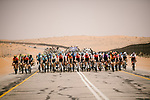 Action from Stage 5 of the Saudi Tour 2020 running 144km from Princess Nourah University to Al Masmak, Saudi Arabia. 8th February 2020. <br /> Picture: ASO/Pauline Ballet   Cyclefile<br /> All photos usage must carry mandatory copyright credit (© Cyclefile   ASO/Pauline Ballet)
