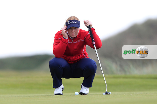 Puk Lyng Thomsen (DEN) on the 7th green during Round 3 Matchplay of the Women's Amateur Championship at Royal County Down Golf Club in Newcastle Co. Down on Friday 14th June 2019.<br /> Picture:  Thos Caffrey / www.golffile.ie