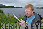 Botanist Rory Hodd who is carrying.out studies on new plantations.found in Inis Fallen.Island on the lakes of Killarney.