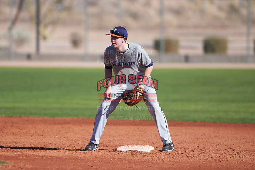 Sam Griffeth (48), from Winamac, Indiana, while playing for the Tigers during the Under Armour Baseball Factory Recruiting Classic at Red Mountain Baseball Complex on December 29, 2017 in Mesa, Arizona. (Zachary Lucy/Four Seam Images)