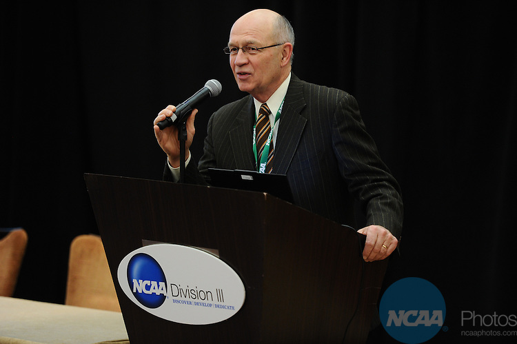 11 JAN 2012: The Division III Joint Breakfast at the 2012 NCAA Convention held at the JW Marriott and Indianapolis Convention Center in Indianapolis, IN.  Stephen Nowland/NCAA Photos.Pictured: Jim Bultman