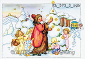 Interlitho, CHRISTMAS SANTA, SNOWMAN, nostalgic, paintings(KL573-3/rgb,#X#) Weihnachten, nostalgisch, Navidad, nostálgico, illustrations, pinturas