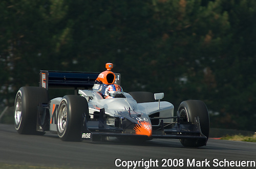 19 July 2008: Oriol Servia (ESP) at the Honda Indy 200 IndyCar race at the Mid-Ohio Sports Car Course, Lexington, Ohio, USA.