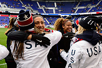 Harrison, NJ - Sunday March 04, 2018: Christen Press, USA Hockey during a 2018 SheBelieves Cup match match between the women's national teams of the United States (USA) and France (FRA) at Red Bull Arena.