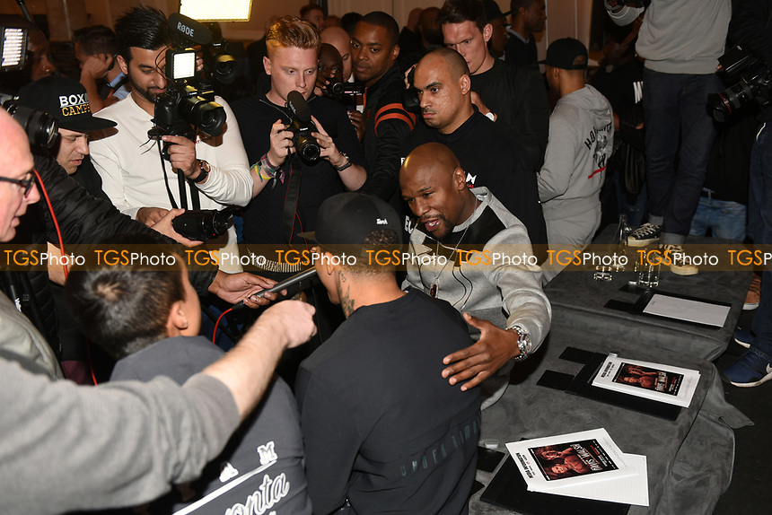 Floyd Mayweather during a Press Conference at the Landmark Hotel on 18th May 2017