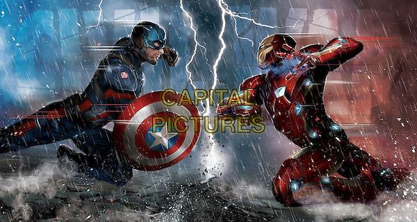 Captain America: Civil War (2016) <br /> Chris Evans, Robert Downey Jr.<br /> *Filmstill - Editorial Use Only*<br /> CAP/KFS<br /> Image supplied by Capital Pictures