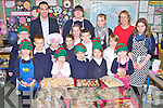 CHRISTMAS COOKIES: The pupils of Flemby NS, Ballymacelligott having great fun at their Christmas Cookie Day on Friday front l-r: Sofia Dowds, Gianna Fitzgibbon, Allan Fazilov, Sandra Marshall and Paiui Dowds. Centre l-r: Sophie Foran, Alfred Fazilov, Edele Browne, Michaela Marshall, Laura O'Shea, Dáire McGovern and Snejana Herbst. Back l-r: Paul Roche (principal), Amanda Goldberga, Violetta Sik, Fiona Cooke (teacher) and Charlotte Browne..