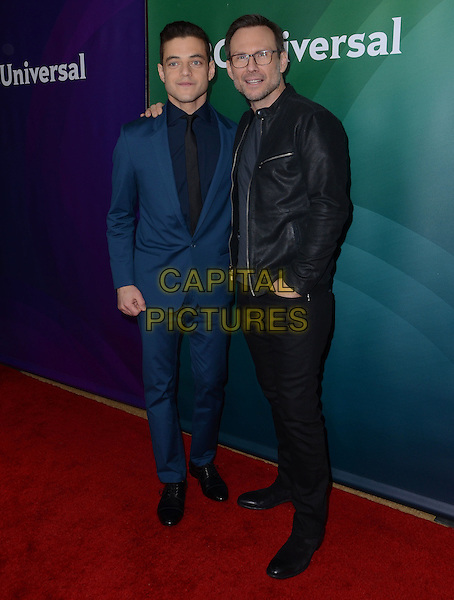14 January  - Pasadena, Ca - Rami Malek, Christian Slater. NBC Universal Press Tour Day 2 held at The Langham Huntington Hotel.  <br /> CAP/ADM/BT<br /> &copy;BT/ADM/Capital Pictures