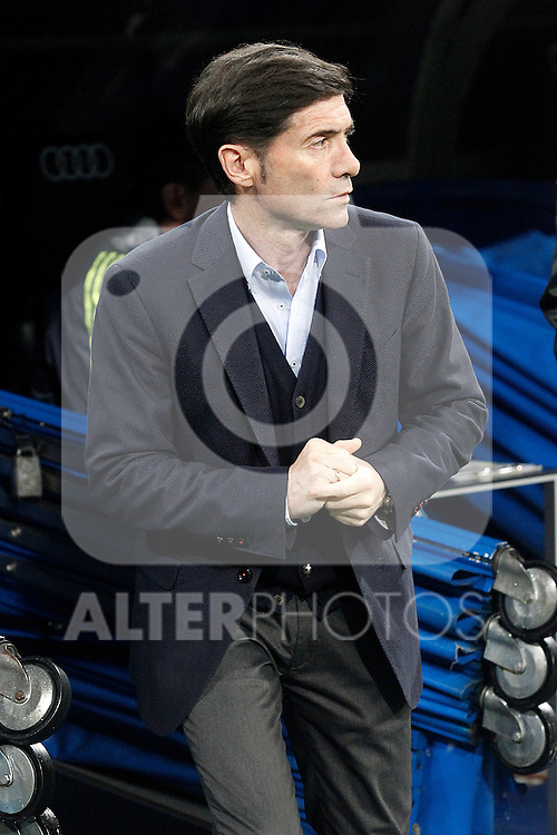 Villareal's coach Marcelino Garcia Toral during La Liga match. April 20,2016. (ALTERPHOTOS/Acero)