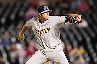 Trenton Thunder pitcher Chase Whitley #48 during a game against the Akron Aeros at Canal Park on July 26, 2011 in Akron, Ohio.  Trenton defeated Akron 4-3.  (Mike Janes/Four Seam Images)